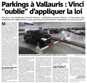 Parkings quart heure