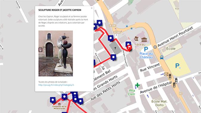 Parcours culturel smartphone Vallauris